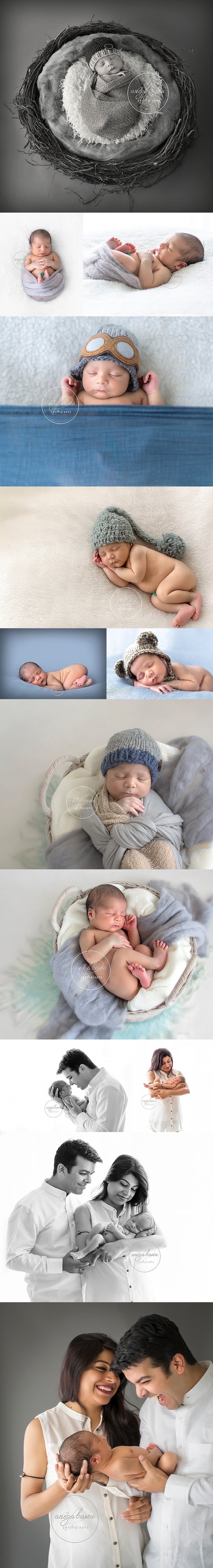 Newborn Photographer in Delhi - Session of a 6 day old baby boy
