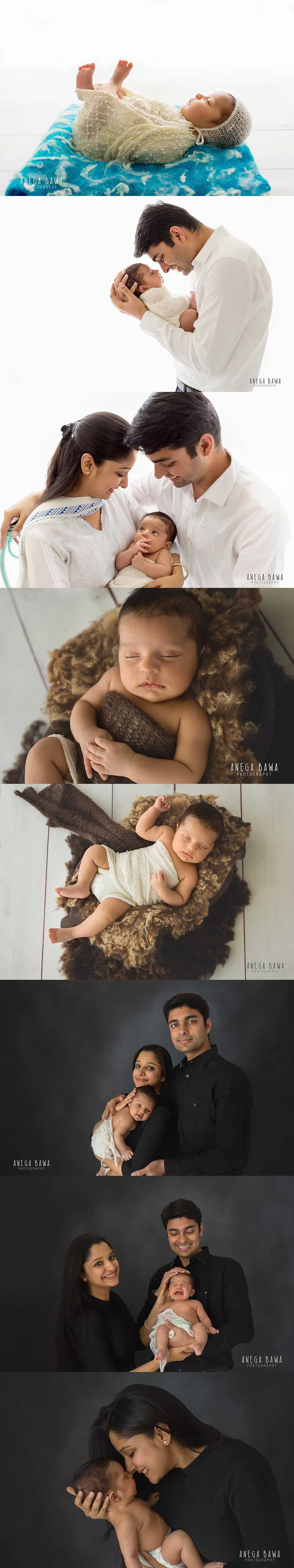 Delhi Newborn Photoshoot Boy One Month Old in Gurgaon by Anega Bawa Photography