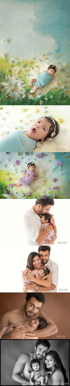 Newborn Session Delhi Gurgaon - 1 Month Old Girl - Anega Bawa Photography