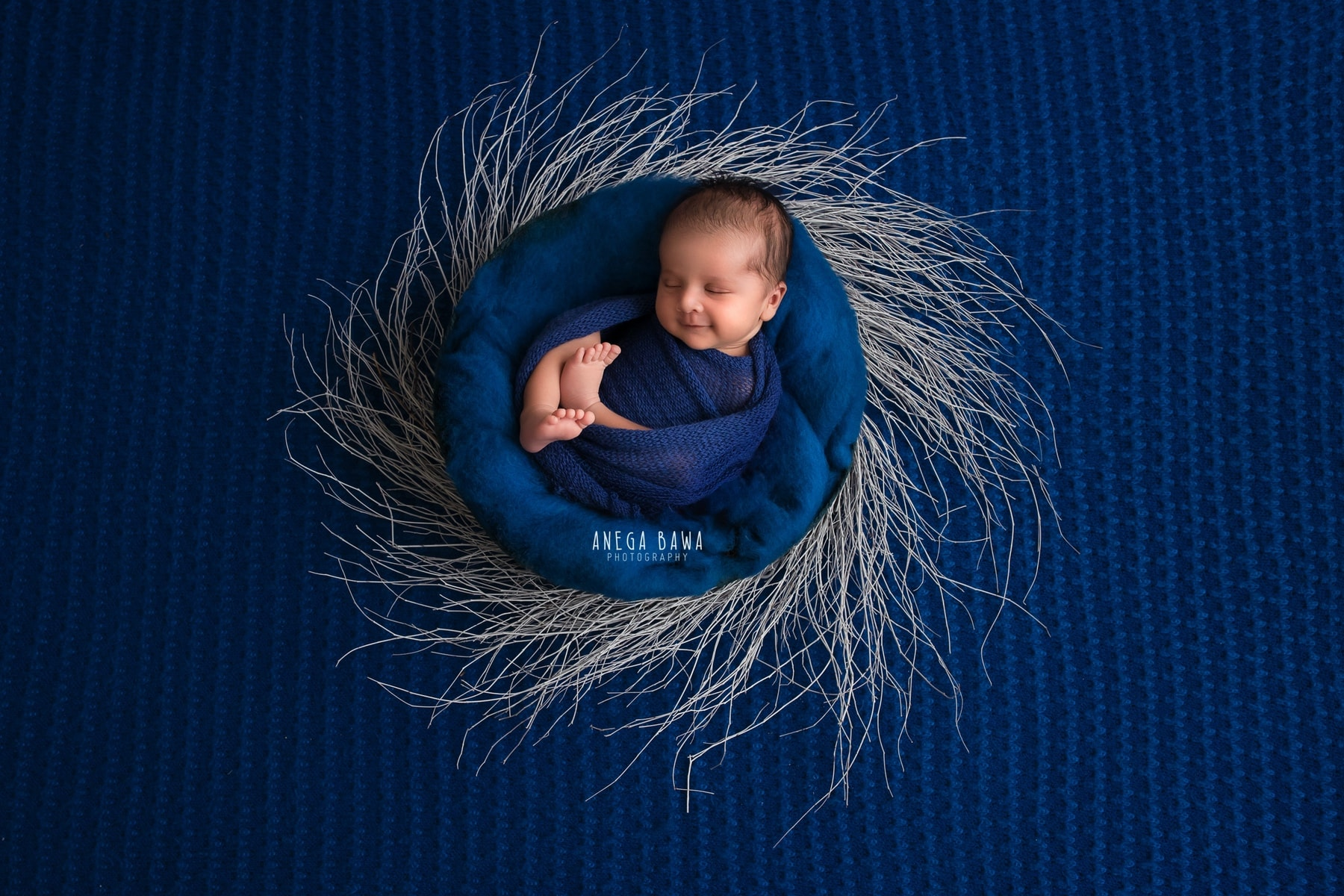 blue newborn photography delhi 12 days baby boy photoshoot gurgaon anega bawa