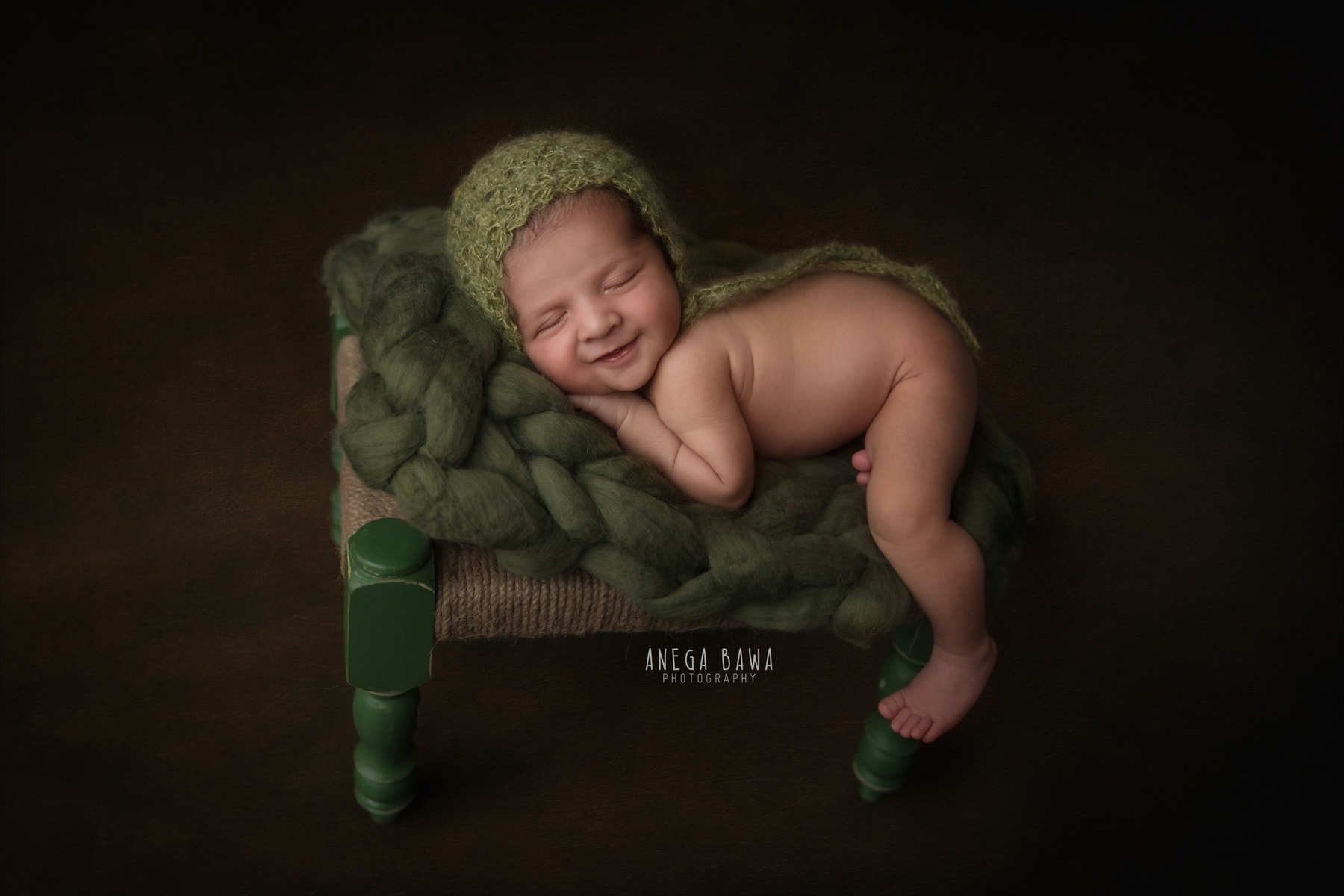 brown green newborn photography delhi 22 days baby boy photoshoot gurgaon anega bawa