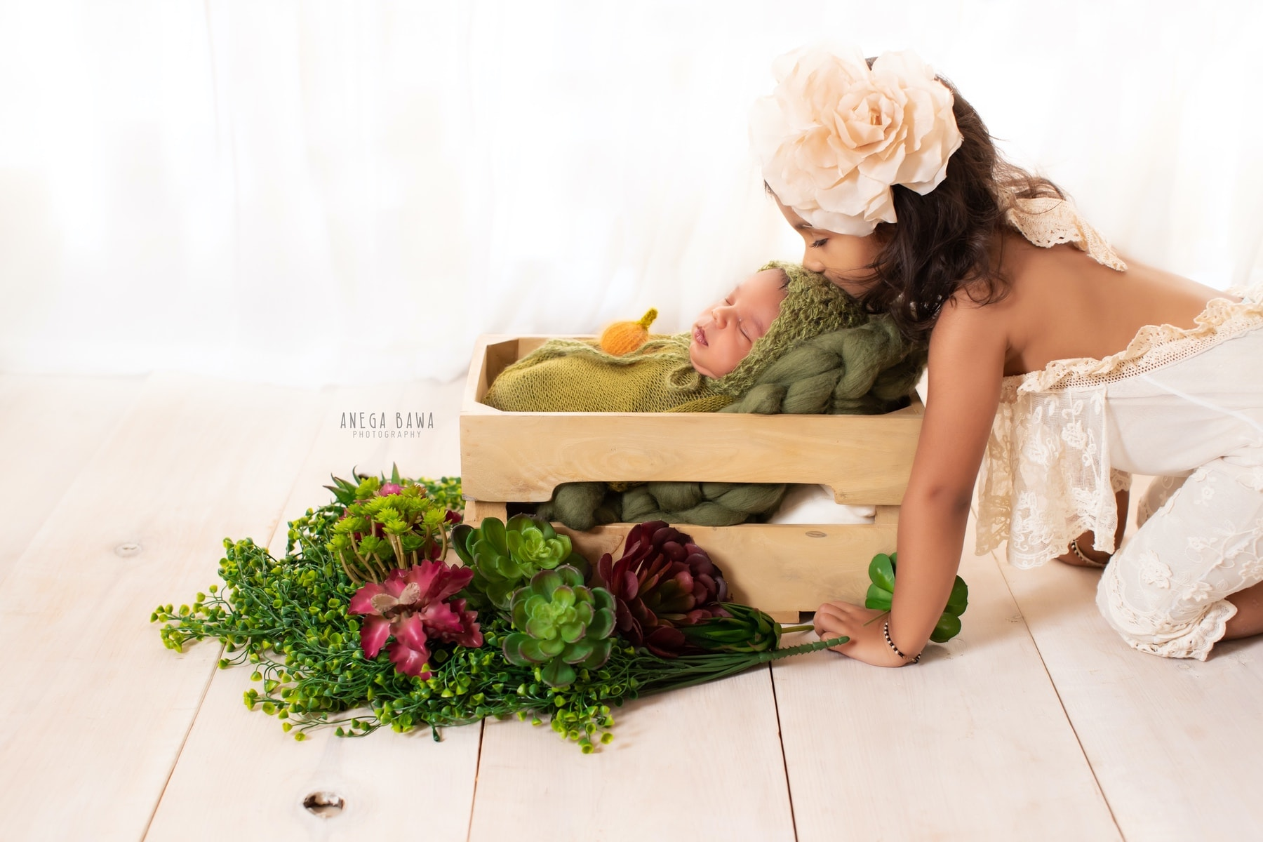 white green floral newborn photography delhi 16 days baby boy photoshoot gurgaon anega bawa