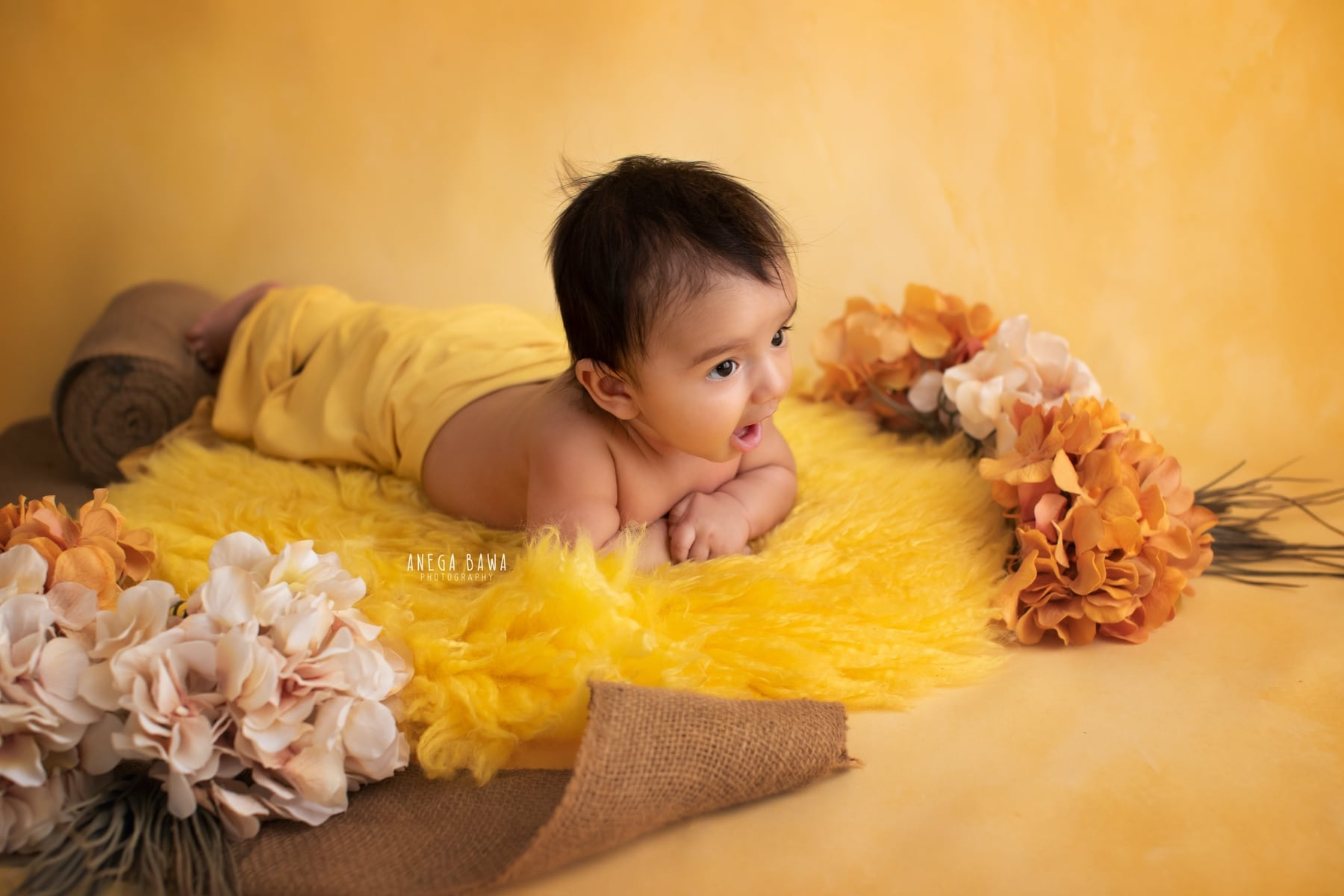 yellow floral baby photography delhi 3 months baby boy photoshoot gurgaon anega bawa