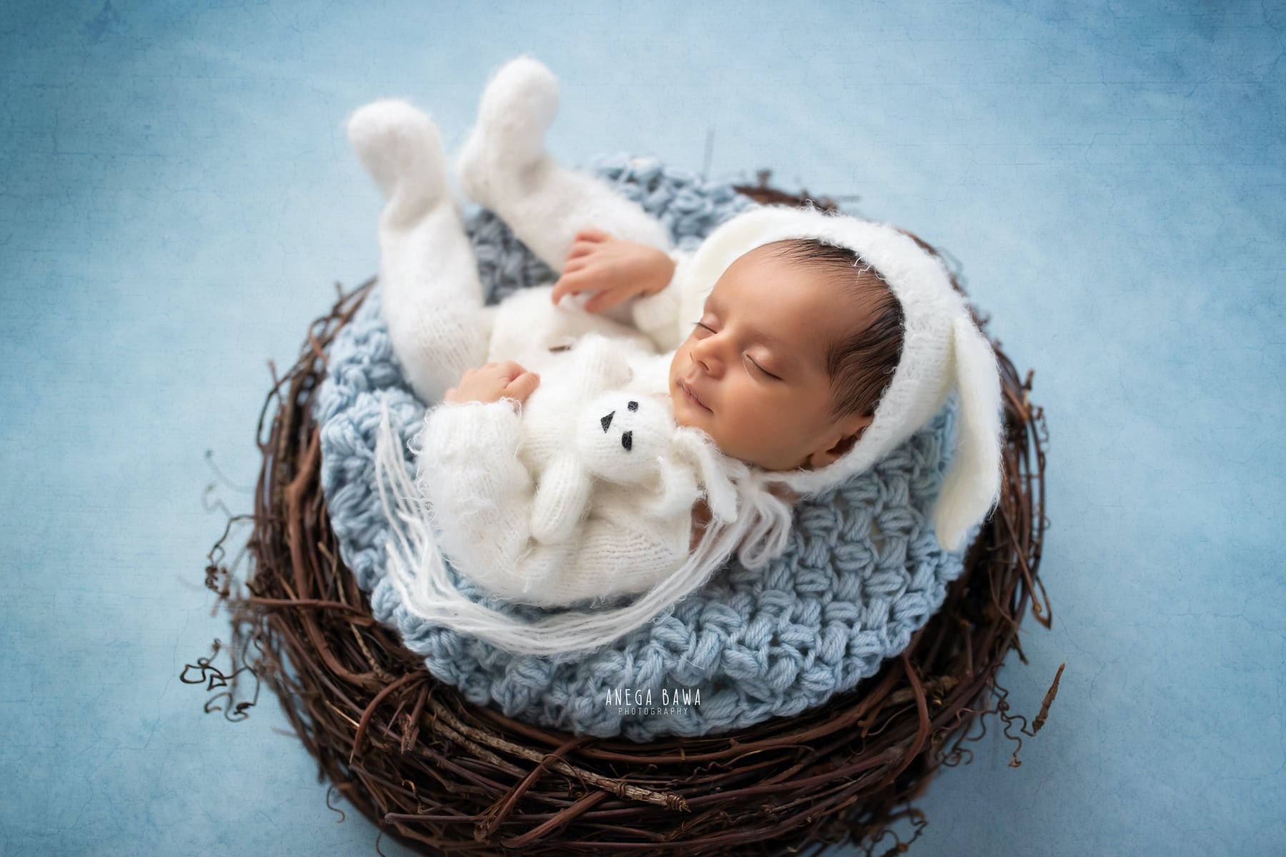 blue newborn photography delhi 23 days baby boy photoshoot gurgaon anega bawa