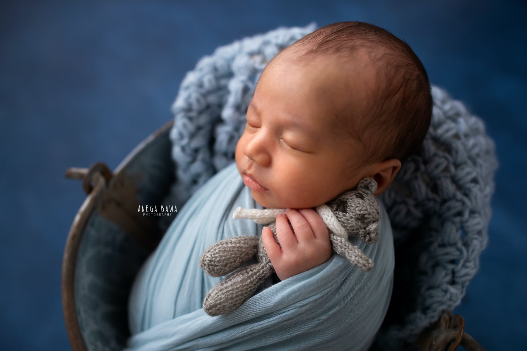 blue newborn photography delhi 11 days baby boy photoshoot gurgaon anega bawa