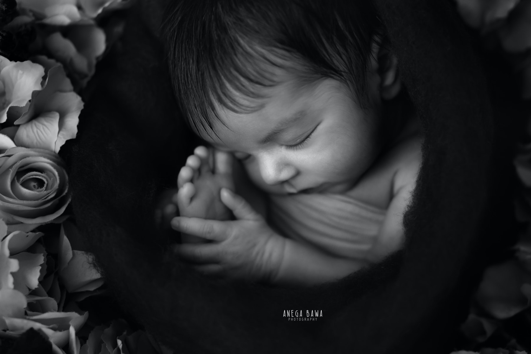 black white newborn photography delhi 20 days baby boy photoshoot gurgaon anega bawa