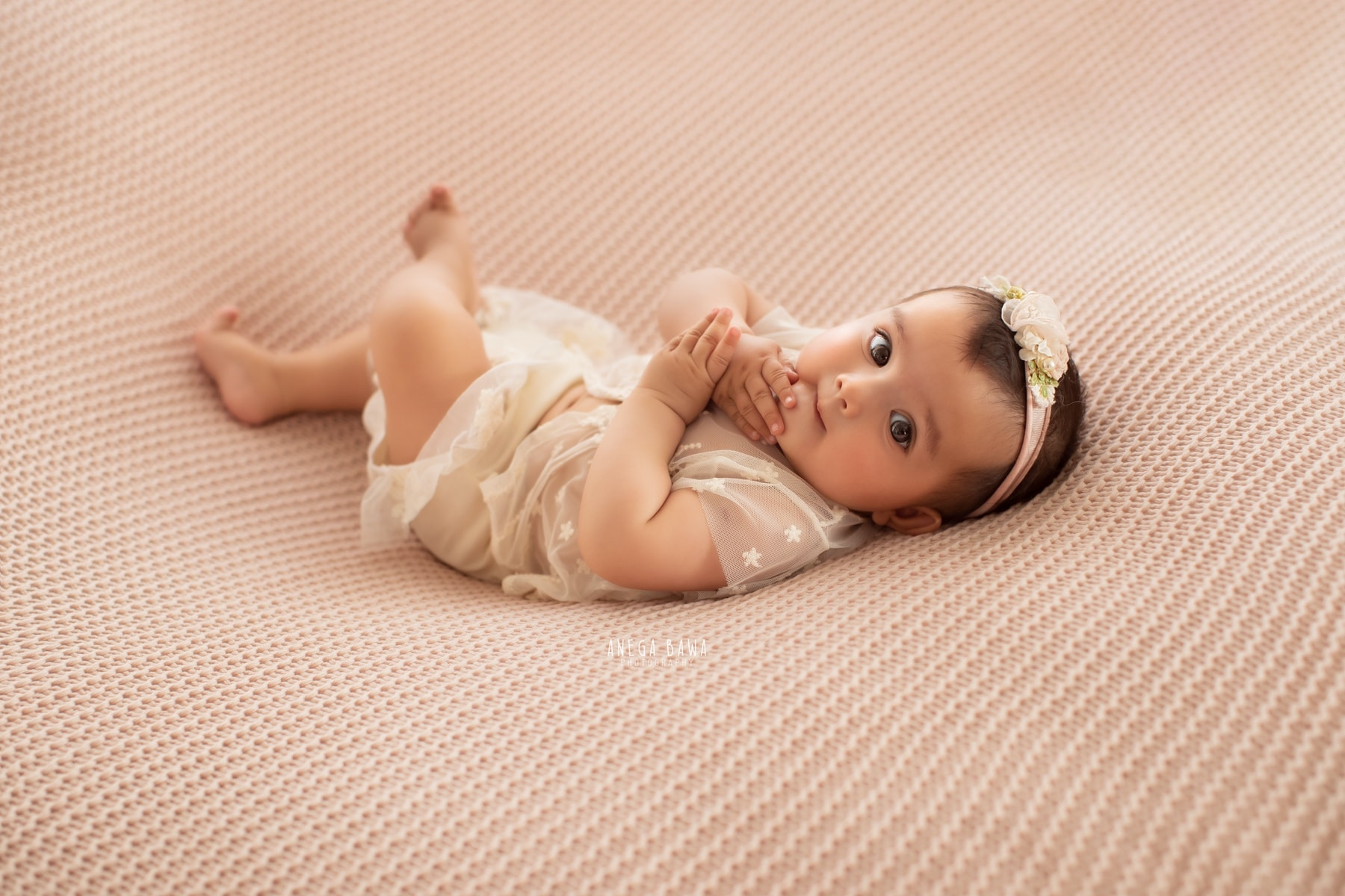 light pink baby photography delhi 4 months baby girl photoshoot gurgaon anega bawa