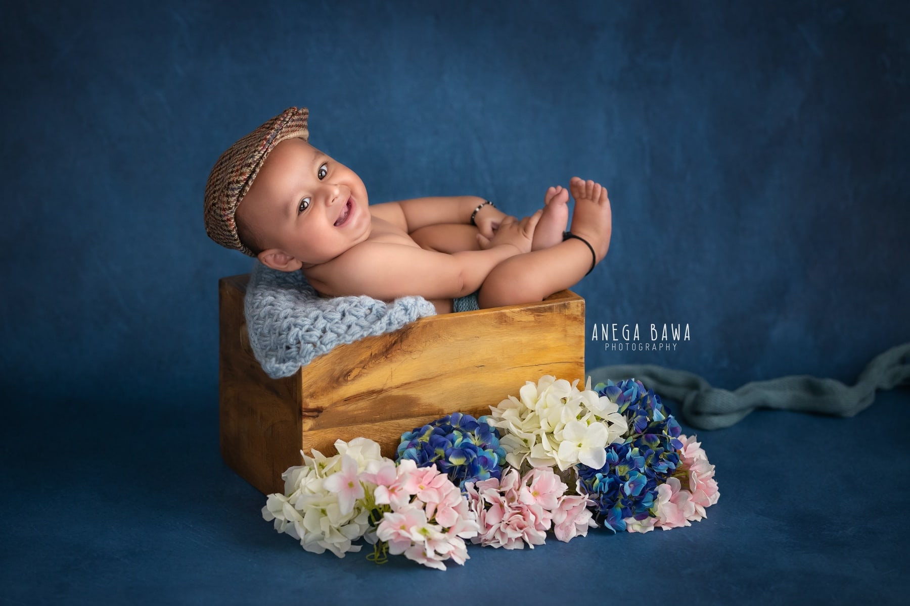 blue floral baby photography delhi 4 months baby boy photoshoot gurgaon anega bawa