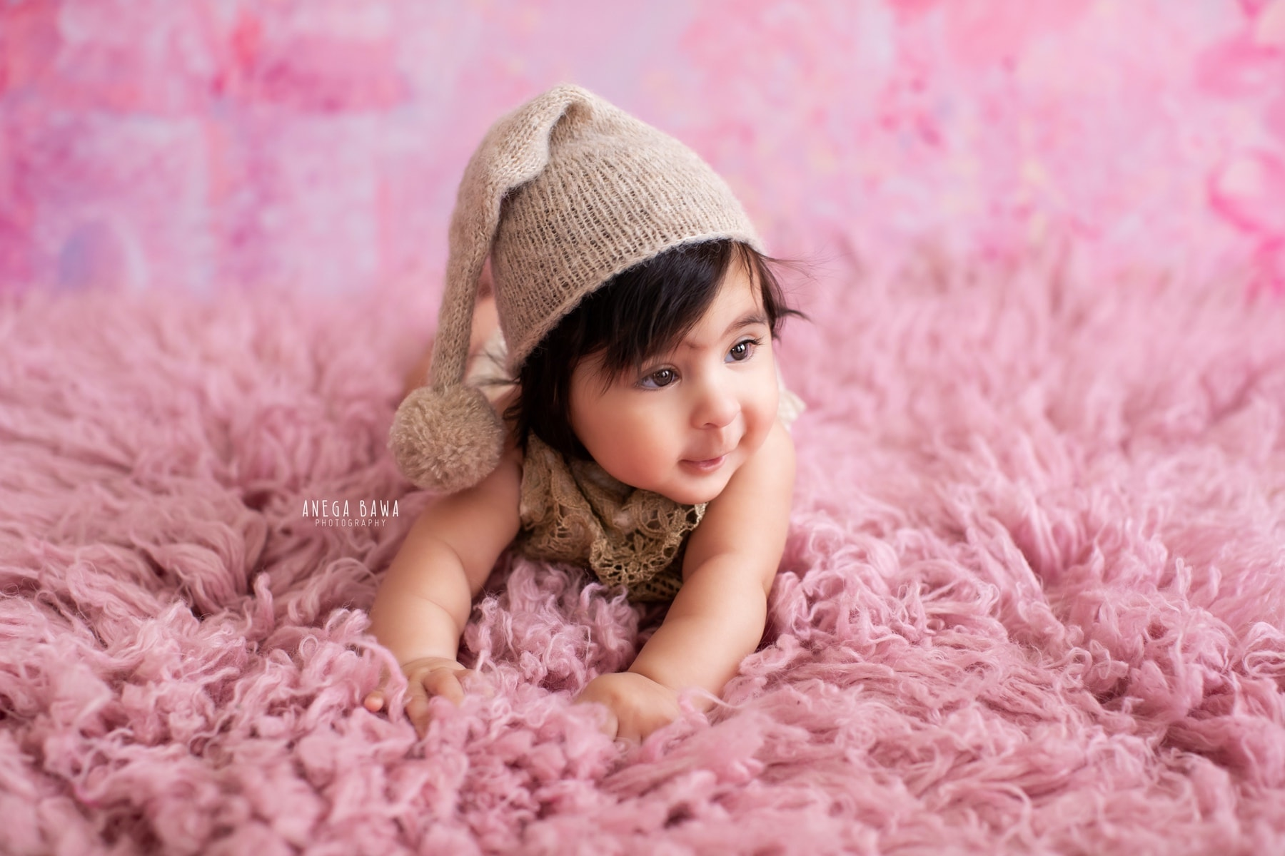 pink baby photography delhi 5 months baby girl photoshoot gurgaon anega bawa