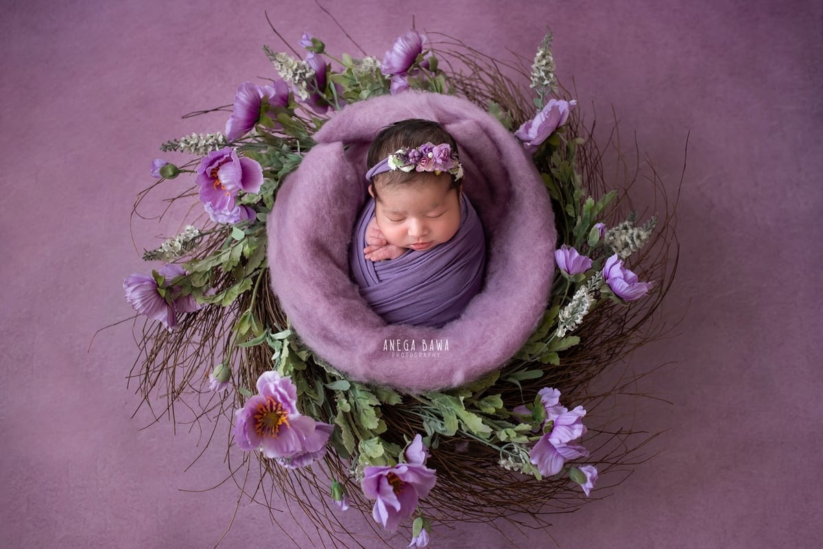 249701-purple-background-lavender-floral-newborn-photography-delhi-14-days-baby-photoshoot-gurgaon-anega-bawa